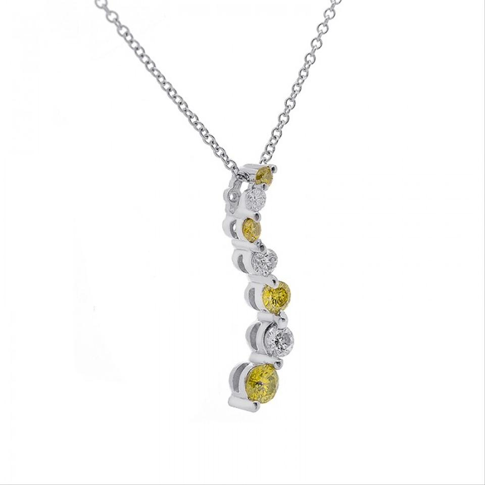 Avital co jewelry 14k white gold 035 carat yellow diamond journey avital co jewelry 14k white gold 035 carat yellow diamond journey pendant cable chain wg necklace aloadofball Images