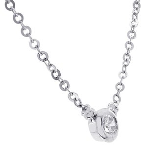 Avital & Co Jewelry 1.00 Carat Round Cut Diamond Pendant Necklace 14k White Gold