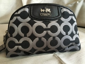 Coach New! Signature Collection Cosmetic Bag