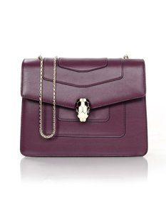 BVLGARI Leather Serpenti Cross Body Bag