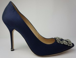 Manolo Blahnik Dark blue Pumps