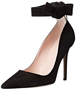 Kate Spade Bow Heels Bow Black Bow Black Suede Pumps