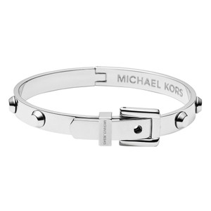 Michael Kors Michael Kors Astor Polished Silver Steel Bangle Bracelet MKJ1820040