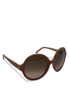 Chloé Chloe Round Brown and Beige CE629S UV Protection Sunglasses