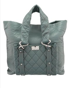 Chanel Lambskin Quilted Tote in Green