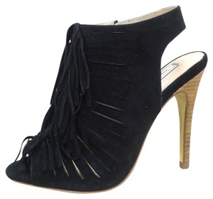 Chinese Laundry Fringe Partyheels Suede black Pumps