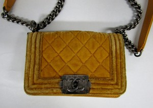 Chanel Boy Flap Yellow Messenger Bag
