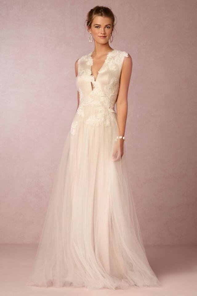 BHLDN Cream / Grey / Taupe Nylon Tulle; Poly-lining Rosemary Formal ...