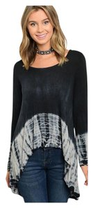 Other Bohemian Scoop Neck Hi Lo Long Sleeve Tunic