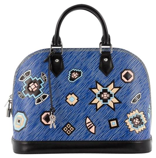 Preload https://item4.tradesy.com/images/louis-vuitton-leather-satchel-blue-19916643-0-1.jpg?width=440&height=440
