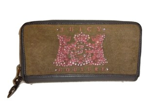 Juicy Couture JUICY COUTURE Scotties Velour & Leather Z/A Accordion Wallet