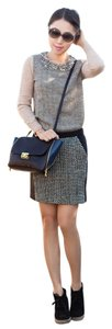 J.Crew Preppy Mini Skirt Black and White Tweed