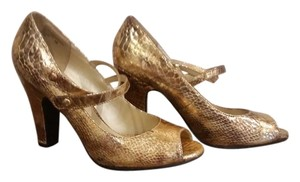 Xhilaration Gold Snakeskin Pumps