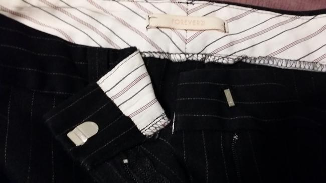 Forever 21 Flare Pants Black with Pinstripes