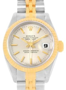 Rolex Rolex Datejust Steel 18k Yellow Gold Silver Dial Ladies Watch 69173