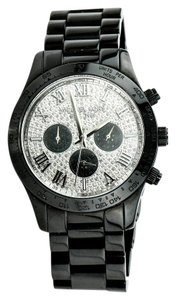 Michael Kors * LAYTON Pave Glitz Dial Black Chronograph Watch