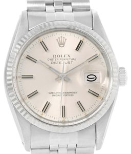 Rolex Rolex Datejust Vintage Steel 18K White Gold Silver Dial Watch 16014