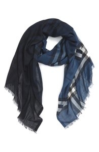 Burberry Ombre Check Wool & Silk Scarf