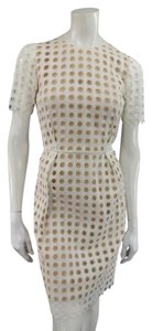 Chloé short dress White Eyelet Lace Polka Dot Pleated on Tradesy
