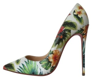 Christian Louboutin So Kate Hawaii Hawaiian White Pumps