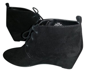 Nine West Wedge Suede Bootie Black Boots