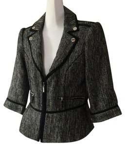 White House | Black Market Black white tweed Blazer
