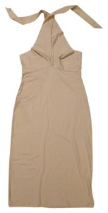 American Apparel short dress Creme Cotton Pencil on Tradesy