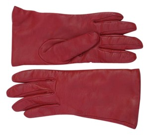 Sermoneta Gloves Giorgio Sermoneta Red Leather Gloves