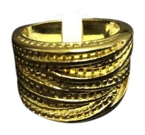 Other Crossover Cubes Style Gold Electroplated Ring Size 7