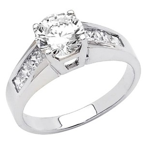 .925 Sterling Silver Rhodium Plated Wedding Engagement Ring Sizes 5 6 7 8 9