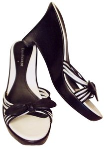 Enzo Angiolini & Strappy Black and White Sandals