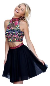 Sherri Hill Embroidered Beaded Floral Dress