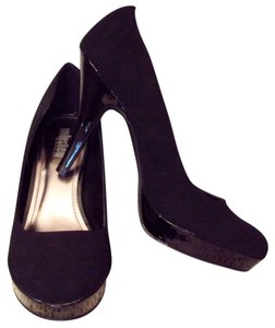 Unlisted by Kenneth Cole Stiletto High Heels Faux Suede Black Pumps