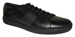 Saint Laurent Leather Sneakers Studded Black Athletic