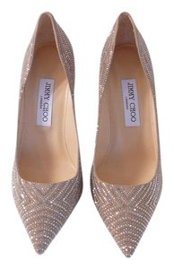 Jimmy Choo 38.5 Manolo 38.5 Clear and Grey Pumps
