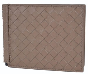 Bottega Veneta Bottega Veneta Men's 390877 Woven Leather Bifold Wallet w/ Bill Clamp