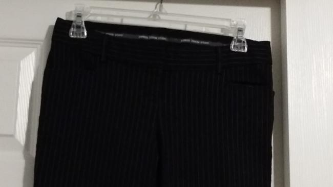 Express Flare Pants Black with Pinstripes
