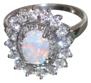 Other Beautiful Sterling Silver Opal/CZ Ring