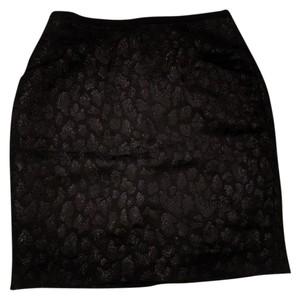 H&M Sparkle Holiday Mini Skirt Black