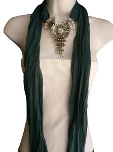 Other Goddess Green Blue Teal Fashion Scarf Angel Wings Pendant Rhinestone