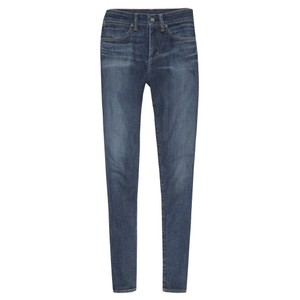 Paper Denim & Cloth High-waisted Preppy Capri/Cropped Denim-Dark Rinse