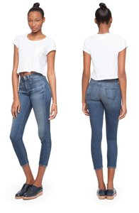 Paper Denim & Cloth High-waisted Preppy Blogger Favorite Capri/Cropped Denim-Dark Rinse