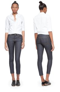 Paper Denim & Cloth High-waisted Dark Preppy Capri/Cropped Denim-Dark Rinse