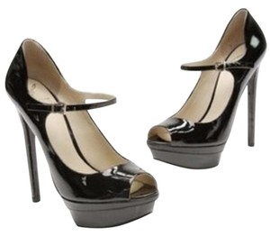 B Brian Atwood Black Patent Pumps