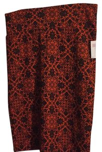 LuLaRoe Skirt Burnt orange w/black pattern