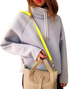 Meli Melo Leather Neon Gray Cowhide Cross Body Bag