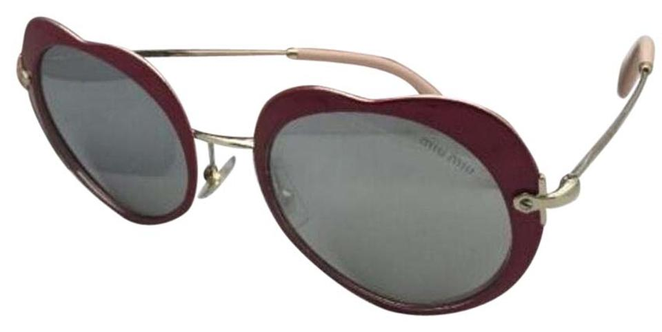 46562d1baecdc Miu Miu MIU MIU Sunglasses SMU 54R USS-2B0 Red-Gold Heart Shape+ ...