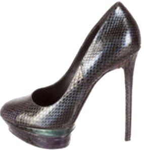 B Brian Atwood Snakeskin Multicolor metallic Pumps