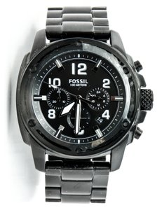 Fossil * FS4927 Machine Black Chronograph Watch