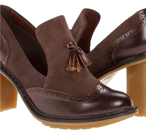 Dr. Martens Retro Inspired Chunk Heel New Chocolate Pumps